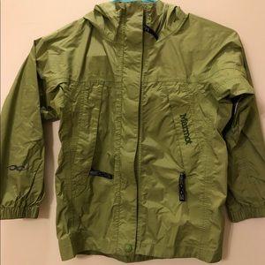 Turtle Green Marmot Rain Jacket size xs